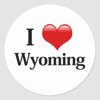 I Heart Wyoming Stickers