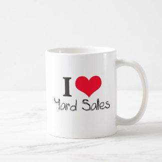 I HEART YARD SALES COFFEE MUGS