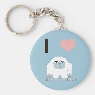 I heart yeti key ring