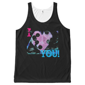 I Heart YOU! All-Over Printed Unisex Tank
