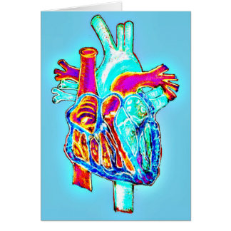"""I Heart You"" Anatomical Heart Greeting Card"