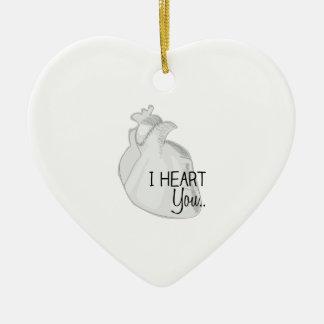 I Heart You Ceramic Ornament