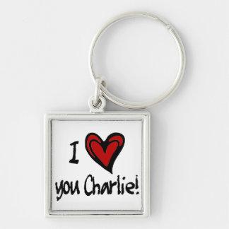 I heart you Charlie Key Ring