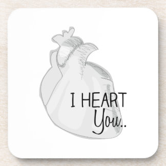 I Heart You Drink Coasters