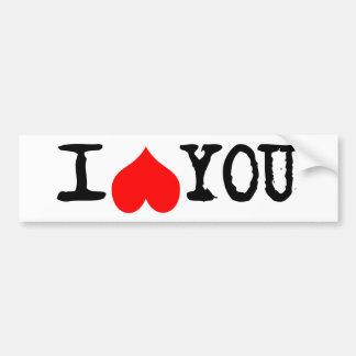 I Heart You Customizable Bumper Sticker
