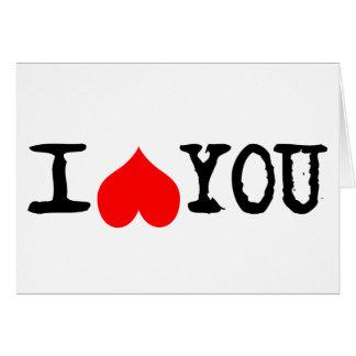 I Heart You Customizable Card