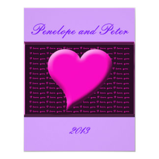 I Heart You Save the Date Wedding Engagement RSVP 11 Cm X 14 Cm Invitation Card