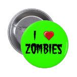 I Heart Zombies 6 Cm Round Badge