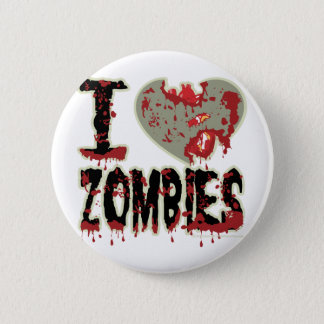 i heart zombies! 6 cm round badge