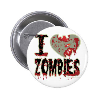 i heart zombies! 6 cm round badge