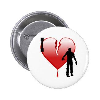 I Heart Zombies Pins