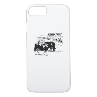 I Herd That  for Cow Lover farm animal iPhone 8/7 Case