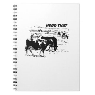 I Herd That  for Cow Lover farm animal Notebook