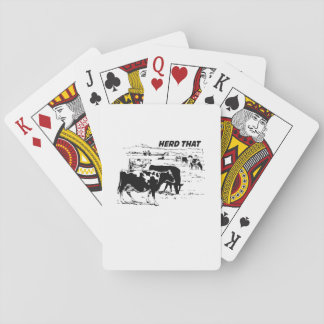 I Herd That  for Cow Lover farm animal Playing Cards
