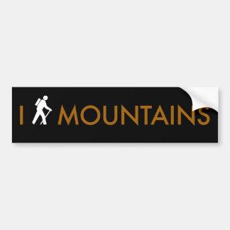 I Hike Mountains Bumper Sticker