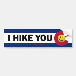 I Hike You Colorado Bumper Sticker