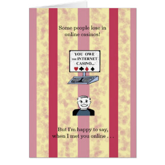 I Hit the Jackpot When I Met You -Birthday Card