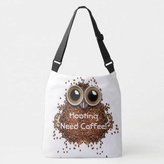 """""""I hooting need Coffee"""" owl bean cute bag Tote Bag"""