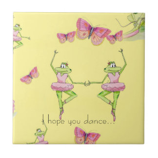 I hope you dance small square tile