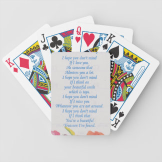 I Hope You Don't Mind Decorative Print Bicycle Playing Cards