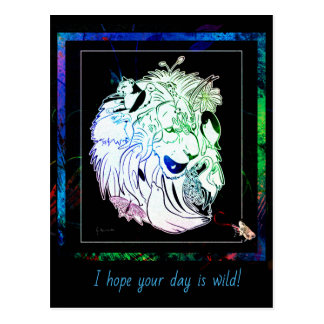 I hope your day is wild! Wildlife Postcard