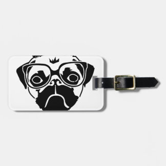 i hug pugs luggage tag