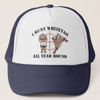 I Hunt Whitetail All Year Round Trucker Hat
