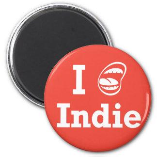 I [☺] Indie 6 Cm Round Magnet
