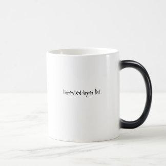 I invented dryer lint morphing mug