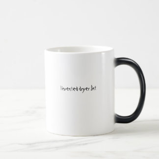 I invented dryer lint 11 oz magic heat Color-Changing coffee mug
