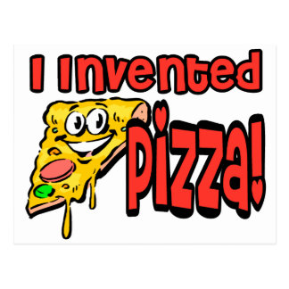 I Invented Pizza Postcard