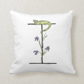 I is for Iguana and Iris Pillow! Cushion