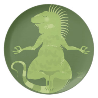 I is for Iguana Plate