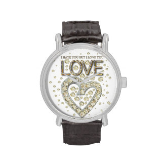 i is you to you but i love you love diamons wristwatch