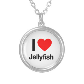 i jellyfish silver plated necklace