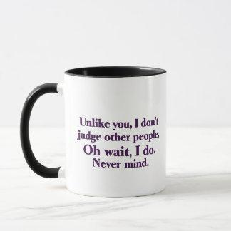 I judge others mug