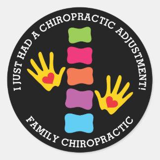I Just Had A Chiropractic Adjustment Custom Kids Round Sticker