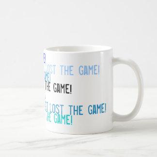 I just lost the game! basic white mug