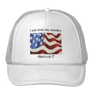 I Just Love My Country Cap Mesh Hats