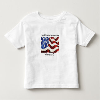 I Just Love My Country Kids Shirt