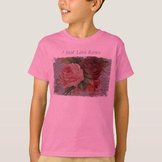 I Just Love Roses Girls's Shirt