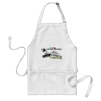 I just support my soldier apron