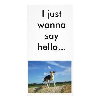 I just wanna say hello photo card