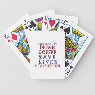 I Just want to drink coffee Save lives Poker Deck