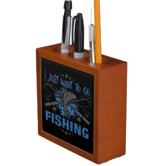 I Just Want To Go Fishing Desk Organiser