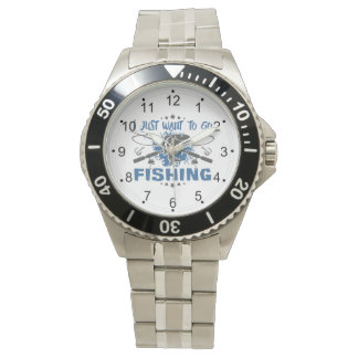 I Just Want To Go Fishing Wrist Watch