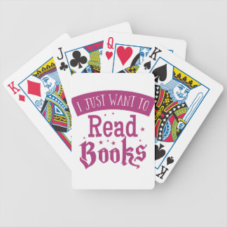 i just want to read books bicycle playing cards