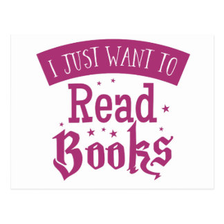 i just want to read books postcard