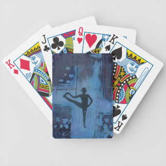 I Keep My Balance Yoga Girl Bicycle Playing Cards