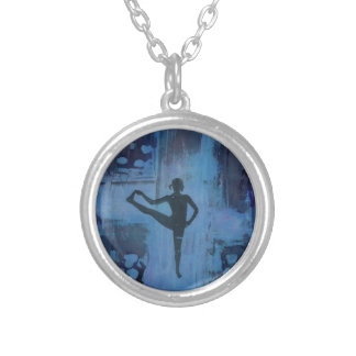 I Keep My Balance  Yoga Girl - necklace